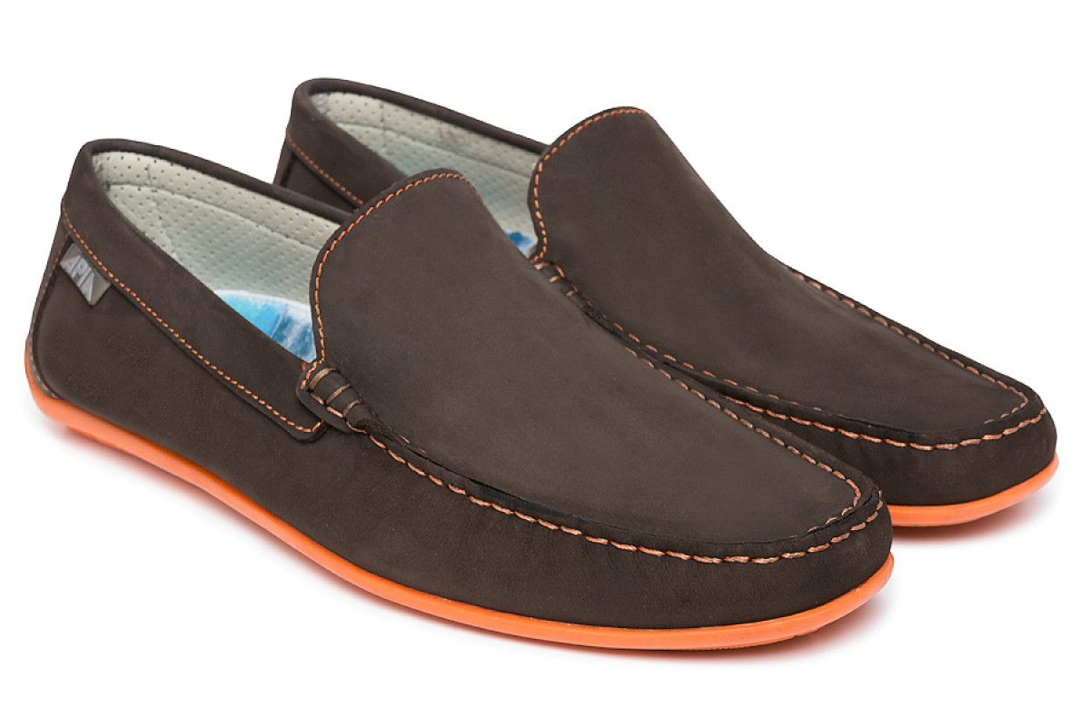 Men's Loafers APIA Nazare 5145 Nl Brown 5606/Stit. Orange