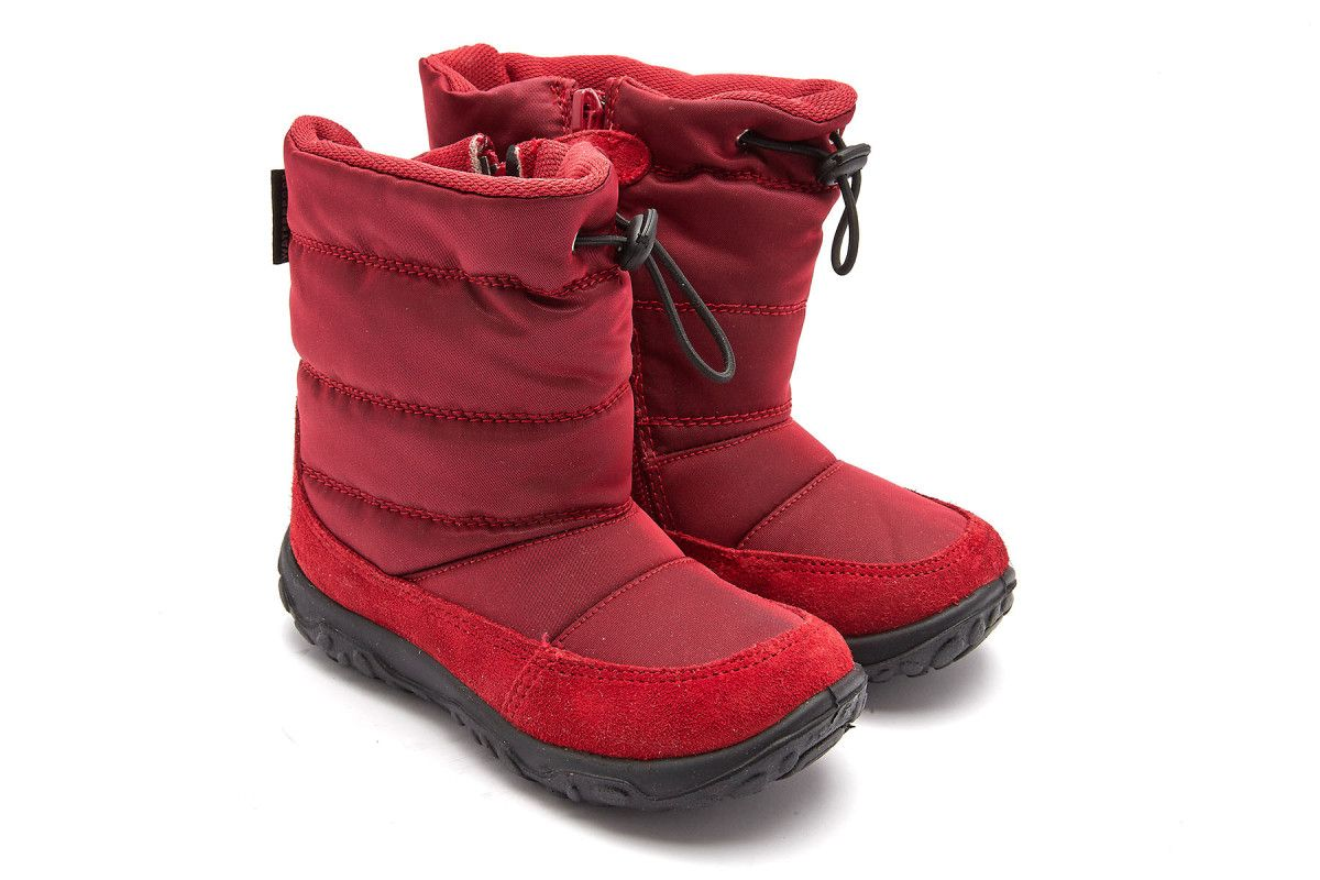 Kid's Insulated Boots NATURINO Poznurr Suede Red