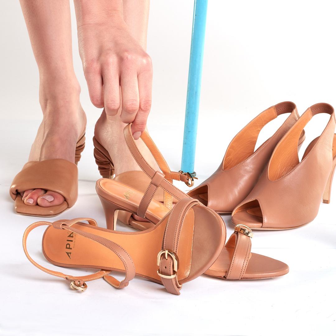 beżowe buty damskie APIA sandaly klapki