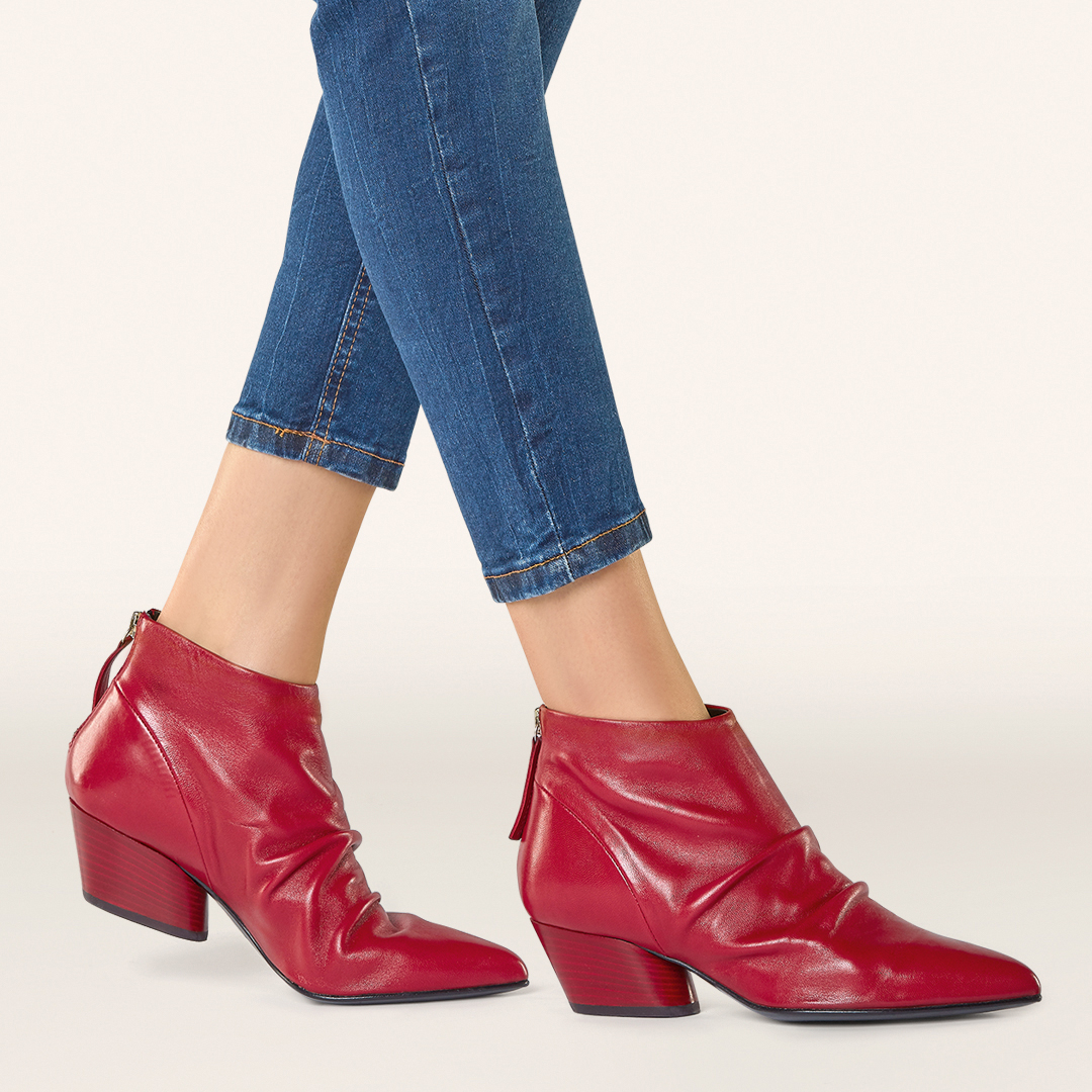 czerwone botki APIA ankel boots