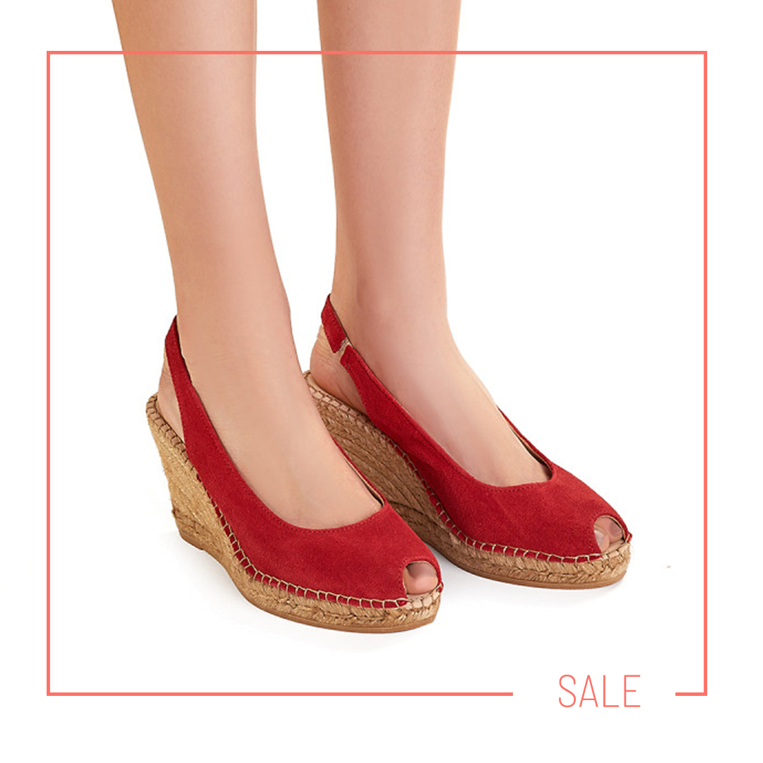 espadryle sandały na koturnie APIA Rojo