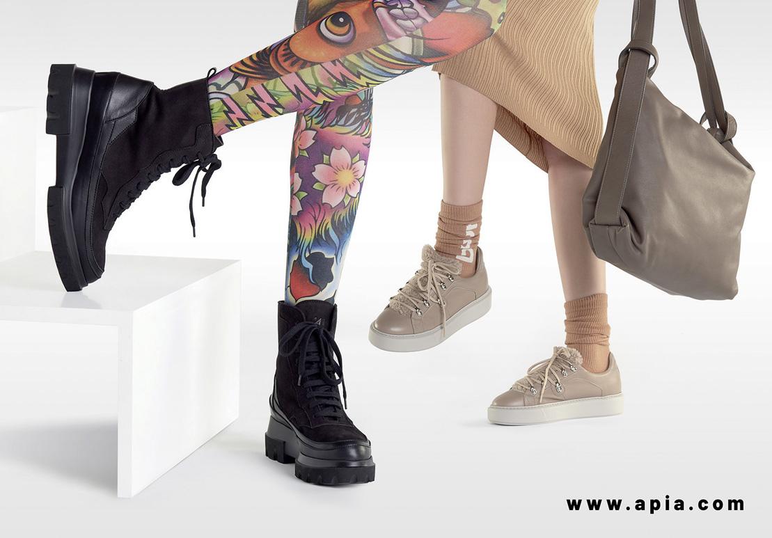 skórzane sneakersy trampki APIA