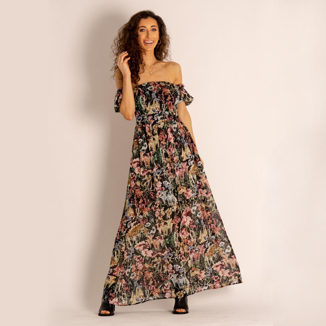 sukienka maxi Angell sandały APIA Officine Creative