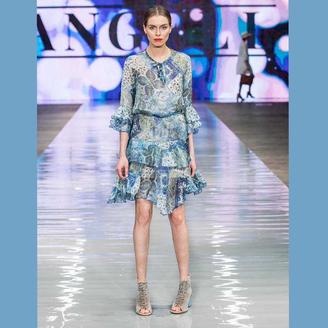 sznurowane sandały botki Apia Minoza sukienka boho Angell